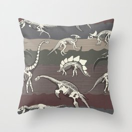 Dinosaur's Dig Throw Pillow