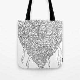 Doodle Heart Tote Bag