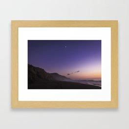 Hello Moon Goodnight Sun Framed Art Print