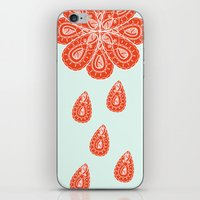 henna iPhone & iPod Skins featuring Henna Shower by Neela