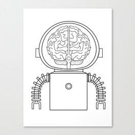 RobotSpaceBrain Canvas Print