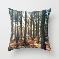 Into the trees... Throw Pillow