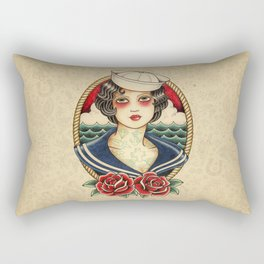 Sailor Girl Tattoo Rectangular Pillow