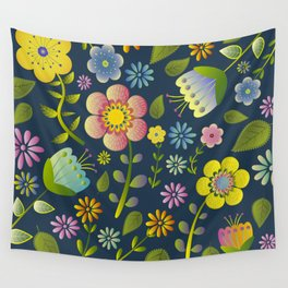 Petty Floral Pattern 1 Wall Tapestry