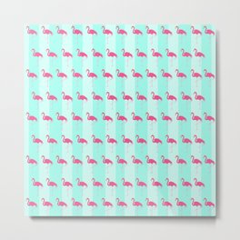 Pretty Little Flamingo Metal Print