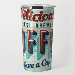 Vintage Style Coffee Sign Travel Mug