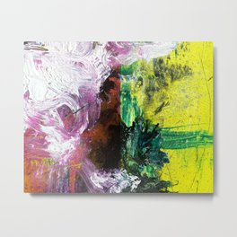 Sweet or Sour // abstract painting Metal Print