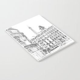Parisian street - Architectural illustration Notebook