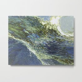 Ebb and Flow Ocean Waves Metal Print
