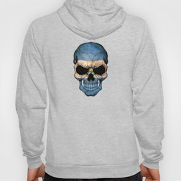 Dark Skull with Flag of El Salvador Hoody