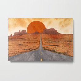 Monument Valley watercolor Metal Print