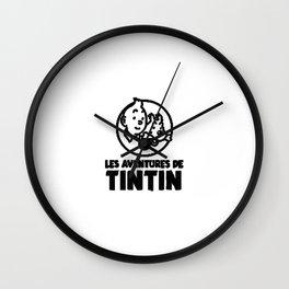 tintin les adventure Wall Clock