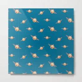 Cute plane pattern Metal Print