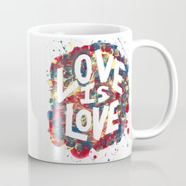 Love Is Love Rainbow Splatter Coffee Mug