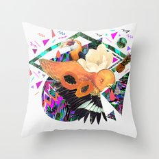 PAPAYA by Carboardcities and Kris tate Throw Pillow