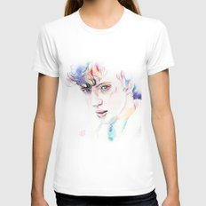 Troye Sivan WILD Inspired Artwork LARGE Womens Fitted Tee White