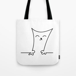 4 Cats on a Line #001, Cat 3, by clodyCats Tote Bag