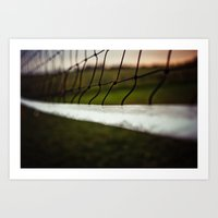 volleyball Art Prints featuring Volleyball Net by Jo Bekah Photography