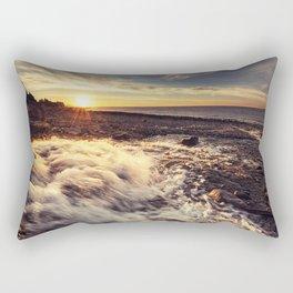 Streaming into the Sunset Rectangular Pillow