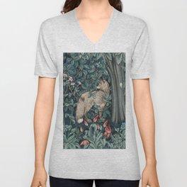 William Morris Forest Fox Tapestry Unisex V-Neck