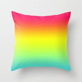 Red Yellow Blue Gradient Throw Pillow