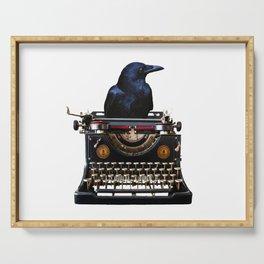 Journalist - Author - Typewriter Black Raven Serving Tray