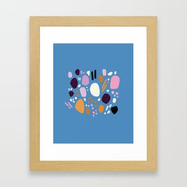 Composition No. 1 Blue Framed Art Print