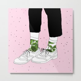 Starry Shoes Metal Print