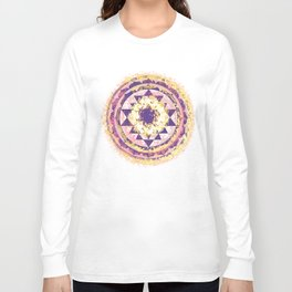 Golden Fire Sri Yantra Long Sleeve T-shirt