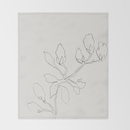 Floral Study No. 3 Throw Blanket