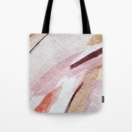 Away [2]: an abstract mixed media piece in pinks and reds Tote Bag