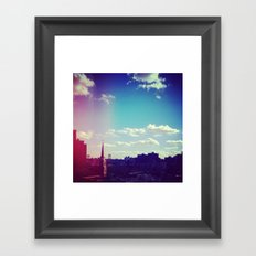 Sky Over Williamsburg Framed Art Print