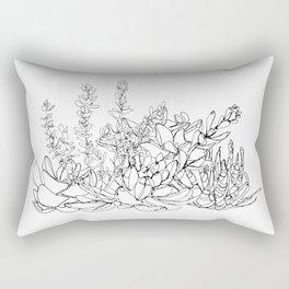 Succulent Group Rectangular Pillow