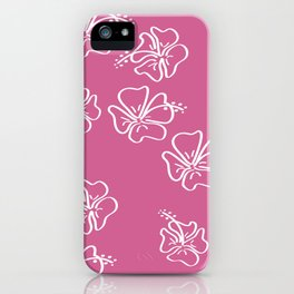 pink ibiscus  iPhone Case