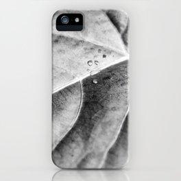 Grå Löv iPhone Case