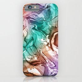 DIGITAL ALCOHOL INK ART 1 iPhone Case