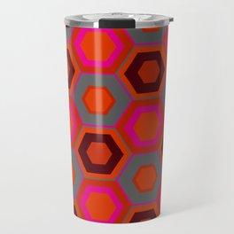 Hot Pink Hexagons Travel Mug