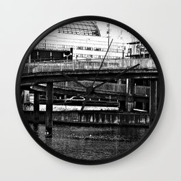Bridge Stockholm city Wall Clock