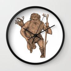 Leshy Tree Trunk Staff Tattoo Wall Clock