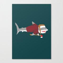 Shark LumberJack Canvas Print