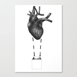 My heart comes undone... Canvas Print