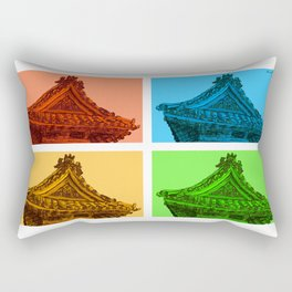 a few reflections on an elegant curve Rectangular Pillow