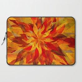Blazing Infused Nightfall Flower Laptop Sleeve