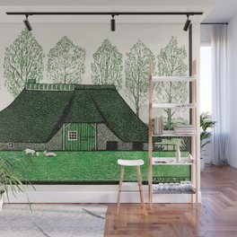Julie de Graag - Farmhouse with thatched roof Wall Mural