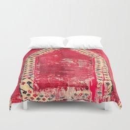 Ottoman  Antique Ushak Turkish Niche Kilim Duvet Cover