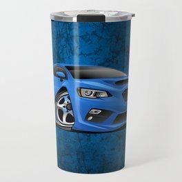 Import Sports Sedan Cartoon Illustration Travel Mug