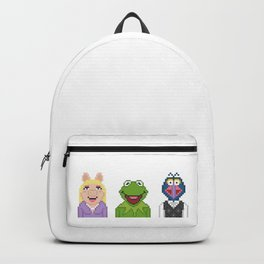 Kermit Miss Piggy And Gonzo The Muppets Pixel Backpack