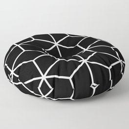Black and White - Geometric Cube Design II Floor Pillow