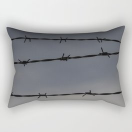 Barb Wire II Rectangular Pillow