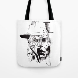 80's Horror Icons Inktober Drawing Tote Bag
